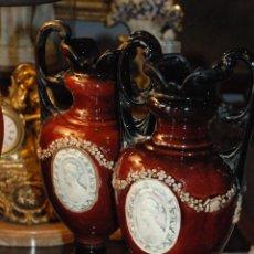 Antigüedades: PRECIOSA PAREJA DE JARRONES ART-DECÓ. Lote 54838314