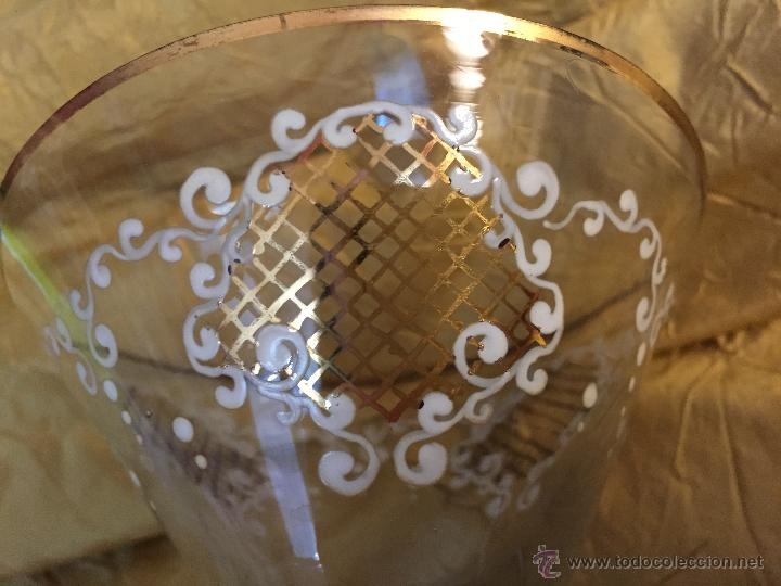 Antigüedades: Antiguas copas de coctel o postre pintadas a mano - Foto 3 - 54839403