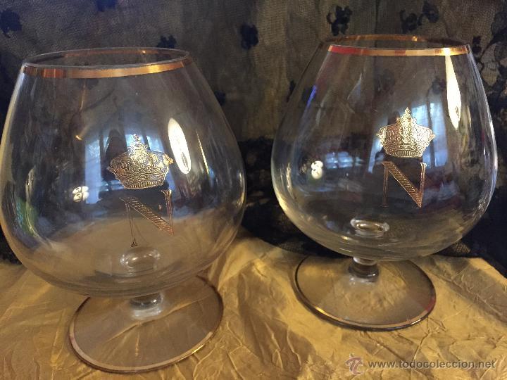 ANTIGUAS COPAS DE COÑAC NAPOLEÓN (Antigüedades - Cristal y Vidrio - Catalán)