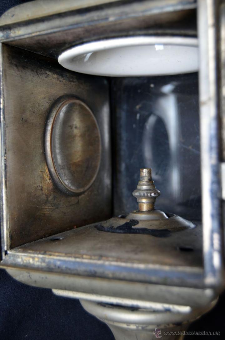 Antigüedades: Farol de acetileno para automóvil. Finales siglo XIX marca BLERIOT, Paris. Completo. - Foto 2 - 54842738