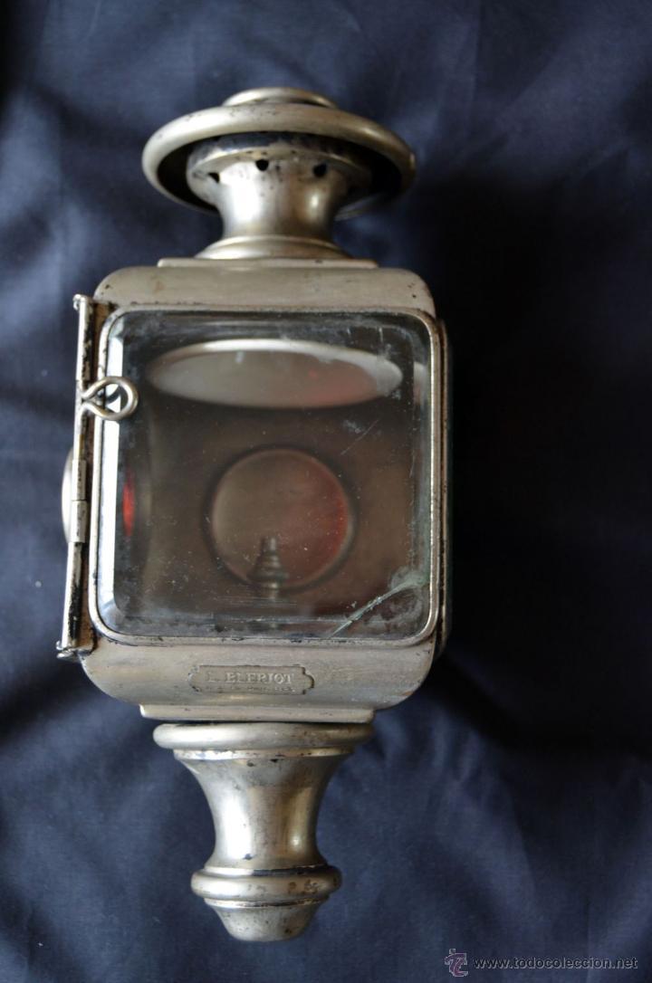 Antigüedades: Farol de acetileno para automóvil. Finales siglo XIX marca BLERIOT, Paris. Completo. - Foto 3 - 54842738