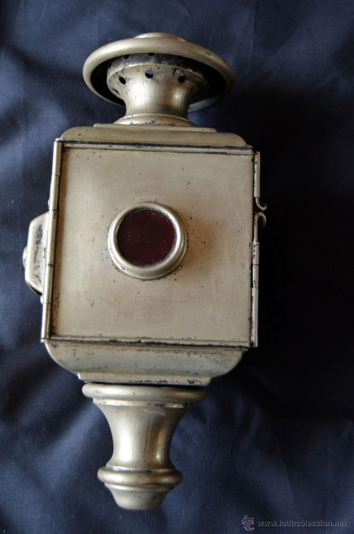 Antigüedades: Farol de acetileno para automóvil. Finales siglo XIX marca BLERIOT, Paris. Completo. - Foto 4 - 54842738
