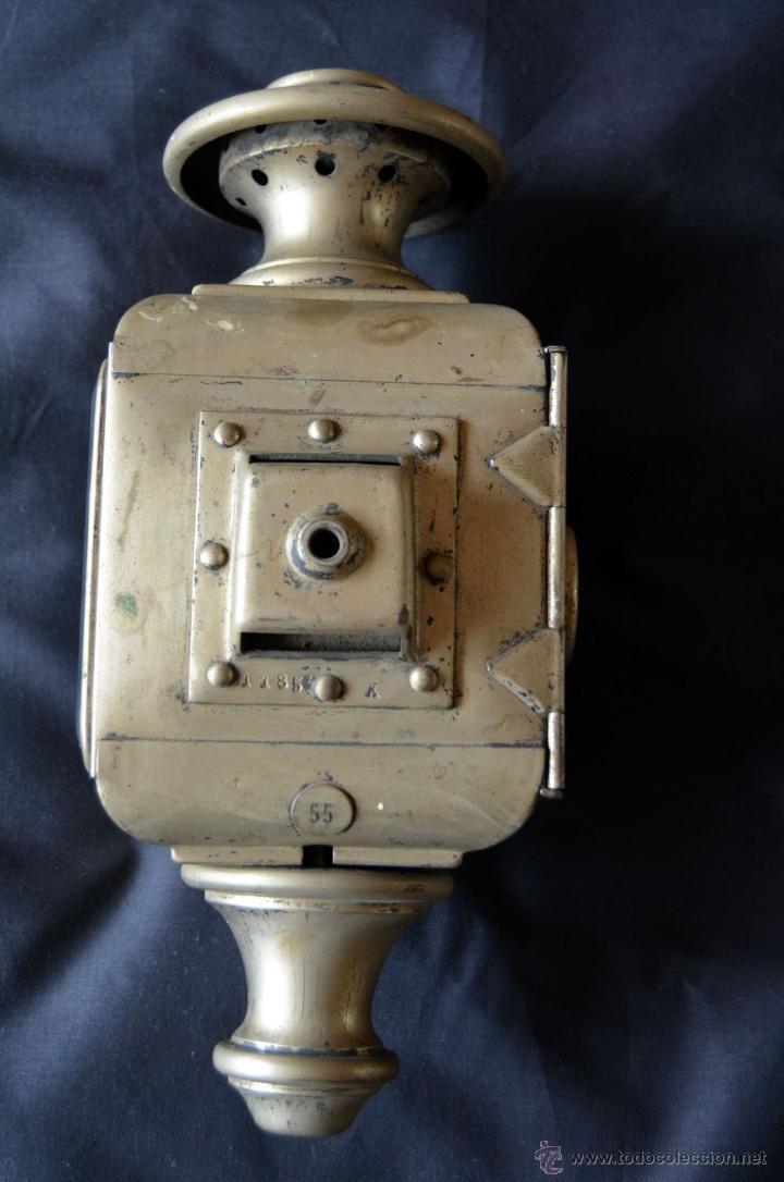 Antigüedades: Farol de acetileno para automóvil. Finales siglo XIX marca BLERIOT, Paris. Completo. - Foto 5 - 54842738