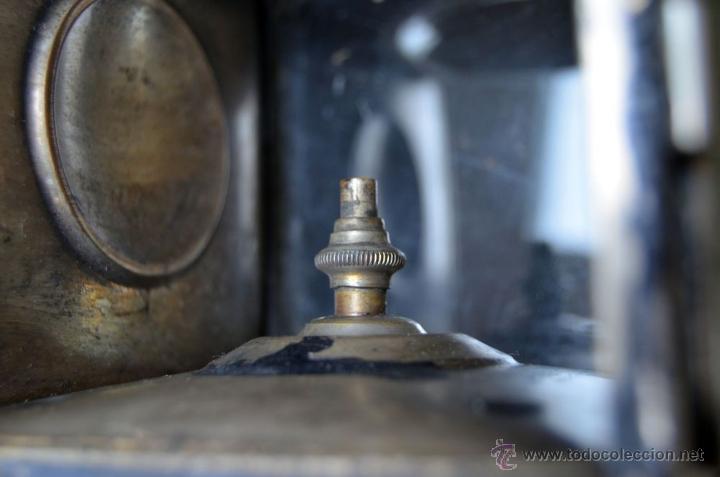 Antigüedades: Farol de acetileno para automóvil. Finales siglo XIX marca BLERIOT, Paris. Completo. - Foto 8 - 54842738