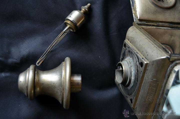 Antigüedades: Farol de acetileno para automóvil. Finales siglo XIX marca BLERIOT, Paris. Completo. - Foto 15 - 54842738
