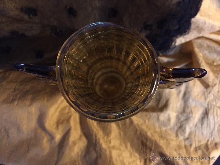 Antigüedades: Jarrón de vidrio soplado color ambar. - Foto 5 - 54843350