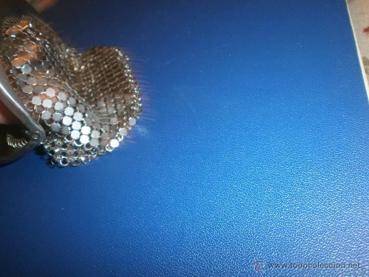 Antigüedades: Monedero metálico de malla medida 9 x 8 cm. - Foto 4 - 54850824