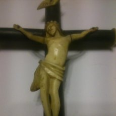 Antigüedades: * ANTIGUO CRUCIFIJO DE MARFIL. S XIX. (RF:214/D*). Lote 54850973