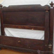 Antigüedades: CAMA DE MATRIMONIO. CAOBA (SIN RESTAURAR). Lote 54851215