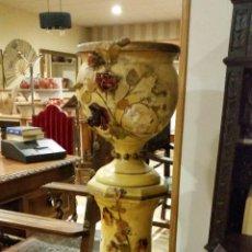 Antigüedades: COLUMNA Y MACETERO. Lote 54852498