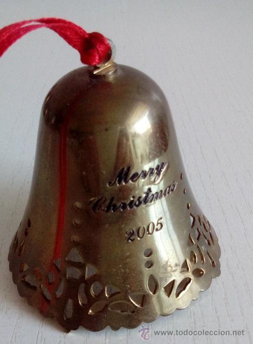 BONITA CAMPANILLA CAMPANA DE LATÓN INGLESA COMPRADA EN LONDRES NAVIDAD DEL 2005 (Antigüedades - Hogar y Decoración - Campanas Antiguas)