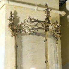 Antigüedades: APLIQUES-DE-PARED BRONCE Y CRISTAL. Lote 54854315