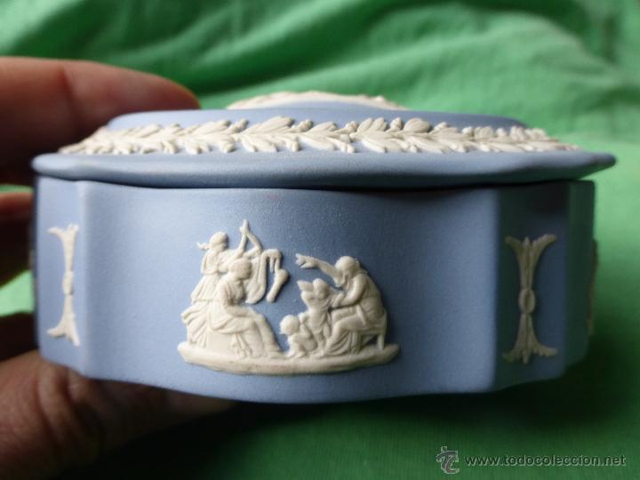 Antigüedades: ANTIGUO JOYERO-SECRETERO INGLÉS FINA PORCELANA BISCUIT etruria&barlaston wedgwood embossed queenswar - Foto 8 - 54854594