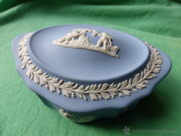 Antigüedades: ANTIGUO JOYERO-SECRETERO INGLÉS FINA PORCELANA BISCUIT etruria&barlaston wedgwood embossed queenswar - Foto 12 - 54854594