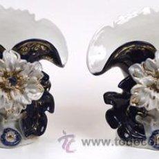 Antigüedades - Jarrones-Porcelana-VIEJO-PARIS - 54854738