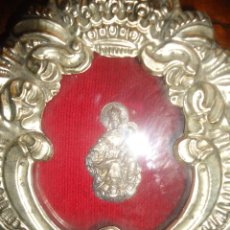 Antigüedades: RELICARIO DE METAL REPUJADO. Lote 54865819