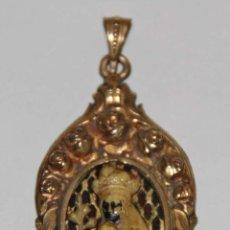 Antigüedades: MR092 MEDALLA DE LA VIRGEN DE MONTSERRAT. PLAQUÉ ORO E IMITACIÓN MARFIL. AÑOS 30. Lote 62036939