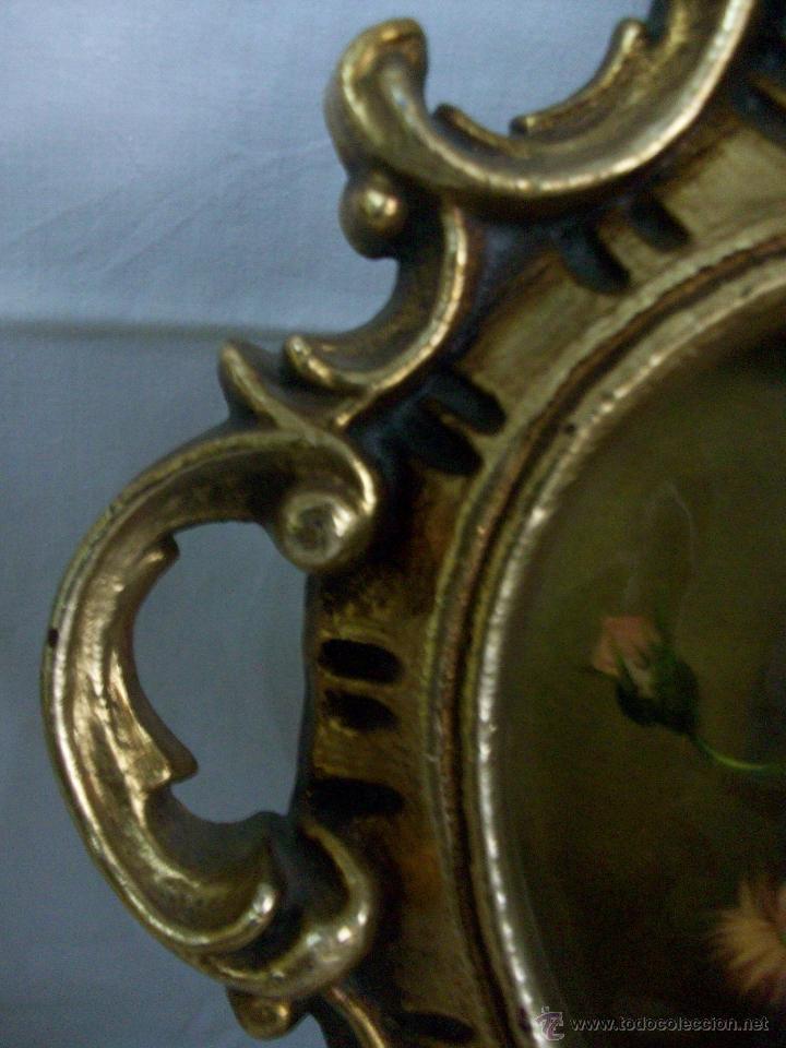 Antigüedades: CORNUCOPIA ANTIGUA-DE MADERA-PAN DE ORO-PINTURA ESMALTADA - Foto 5 - 54874608