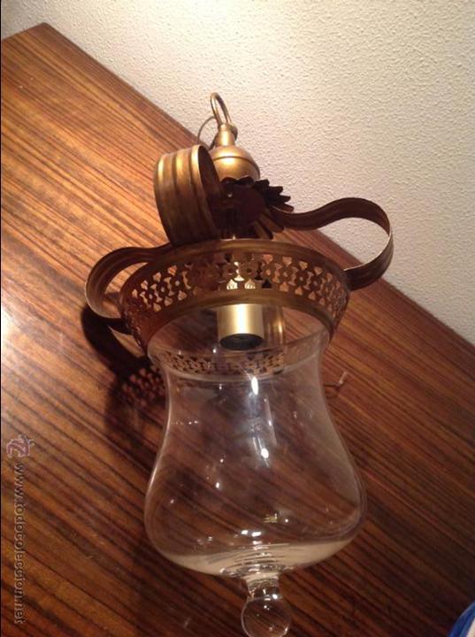 Antigüedades: FAROL DE TECHO LAMPARA - Foto 2 - 54881734