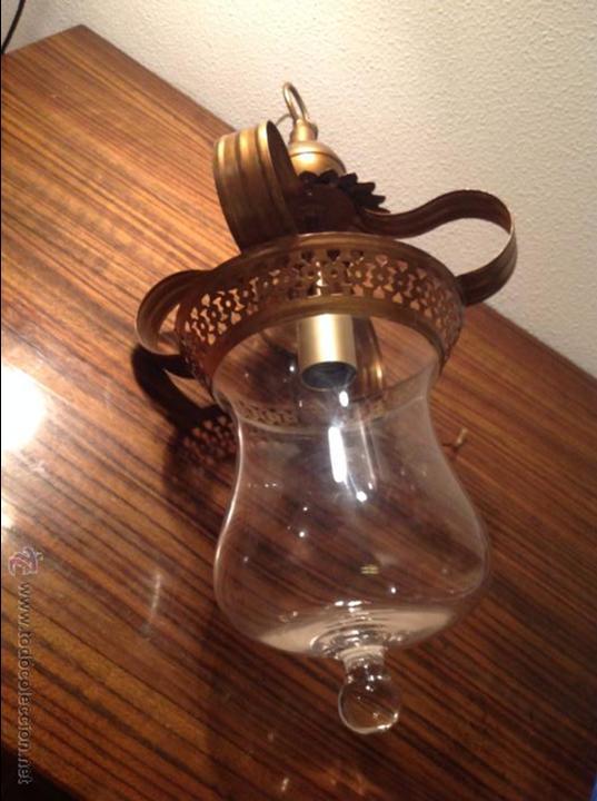 Antigüedades: FAROL DE TECHO LAMPARA - Foto 3 - 54881734