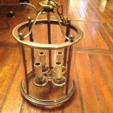 Antiquitäten - FAROL DE TECHO LAMPARA CRISTAL CURVO - 54881846