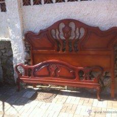 Antigüedades: CABECERO PIECERO DE MATRIMONIO . Lote 88958692