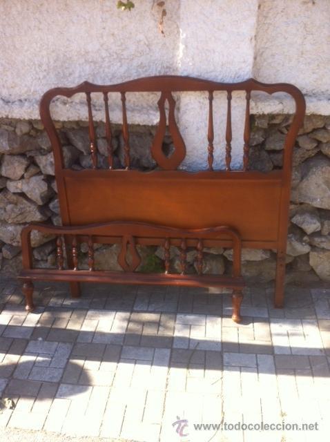 ANTIGUO CABECERO Y PIECERO (Antigüedades - Muebles Antiguos - Camas Antiguas)
