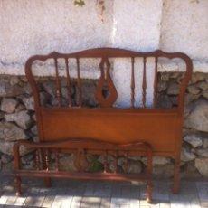 Antigüedades: ANTIGUO CABECERO Y PIECERO. Lote 54893510