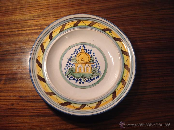 PLATO DE MANISES CASA (Antigüedades - Porcelanas y Cerámicas - Manises)