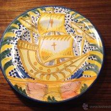 Antigüedades: PLATO DE MANISES BARCO. Lote 54895853