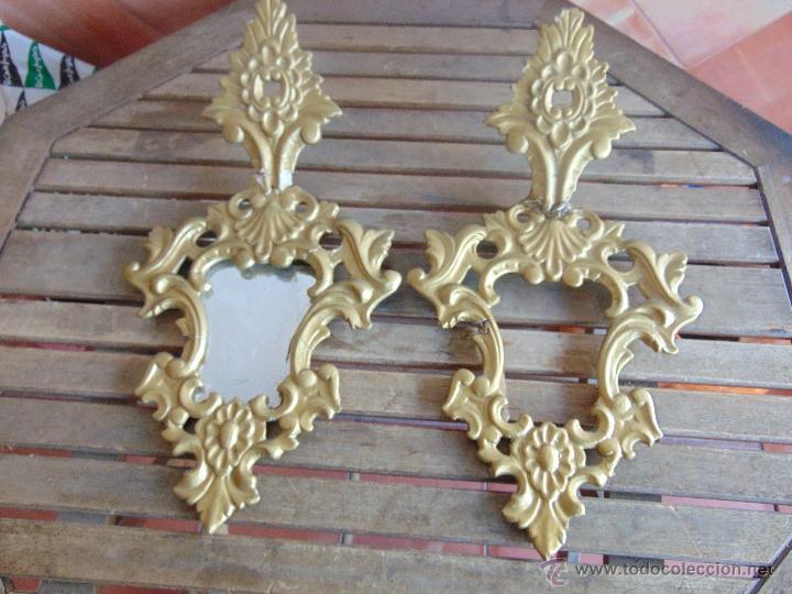 Juego de cornucopias con base de madera y moldu comprar for Molduras de madera