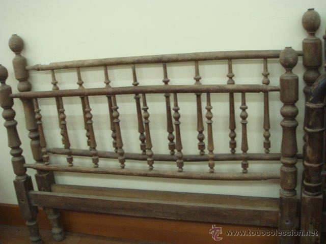 CAMA ANTIGUA (PARA RESTAURAR) (Antigüedades - Muebles Antiguos - Camas Antiguas)