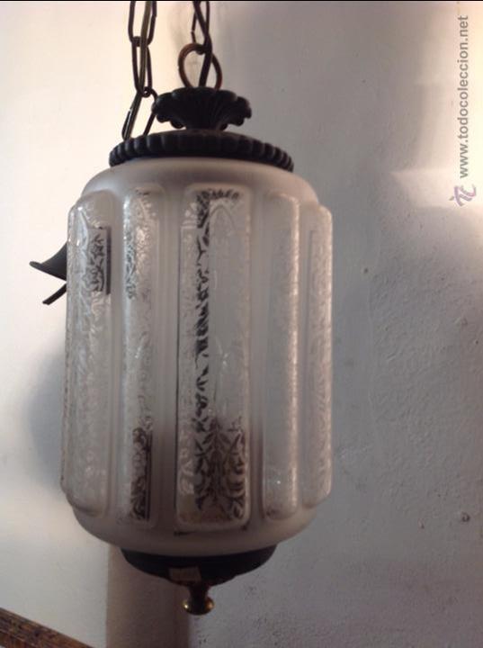Antigüedades: FAROL CERRADO GRABADO AL ACIDO - Foto 3 - 54912289