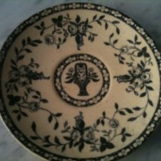 Antigüedades: PLATO CERAMICA I.T SANTANDER,COLOR NEGRO. Lote 67039319