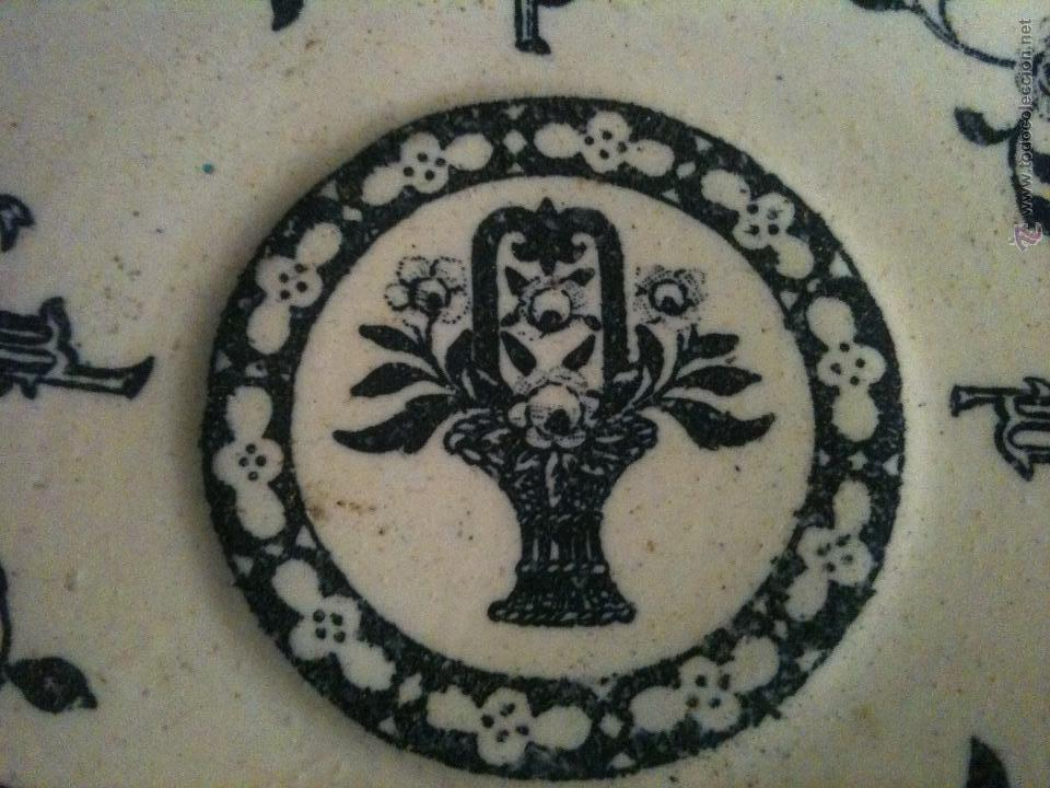 Antigüedades: PLATO CERAMICA I.T SANTANDER,COLOR NEGRO - Foto 2 - 67039319