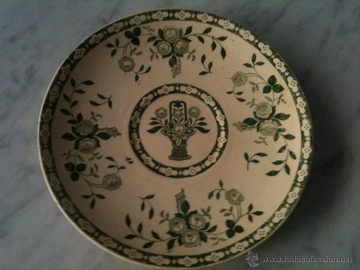 PLATO CERAMICA I.T SANTANDER,COLOR VERDE (Antigüedades - Porcelanas y Cerámicas - Otras)