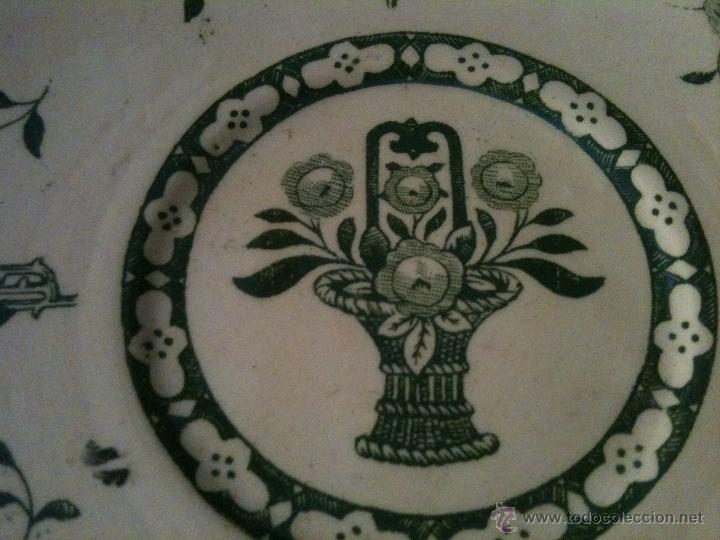 Antigüedades: PLATO CERAMICA I.T SANTANDER,COLOR VERDE - Foto 2 - 67039179