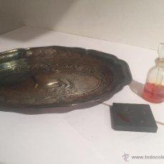 Antigüedades: BANDEJA ANTIGUA DE PLATA DE LEY MARCA: VVV VALENTI. Lote 54920524