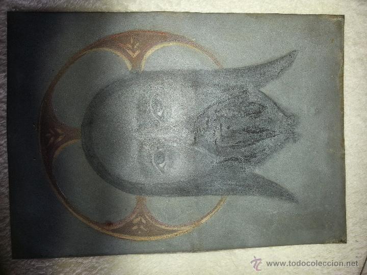 Antigüedades: ANTIGUO RELICARIO DE LA SANTA FAZ Y LA DOLOROSA EN MADERA TALLADA FINALES S. XIX - Foto 10 - 54925814