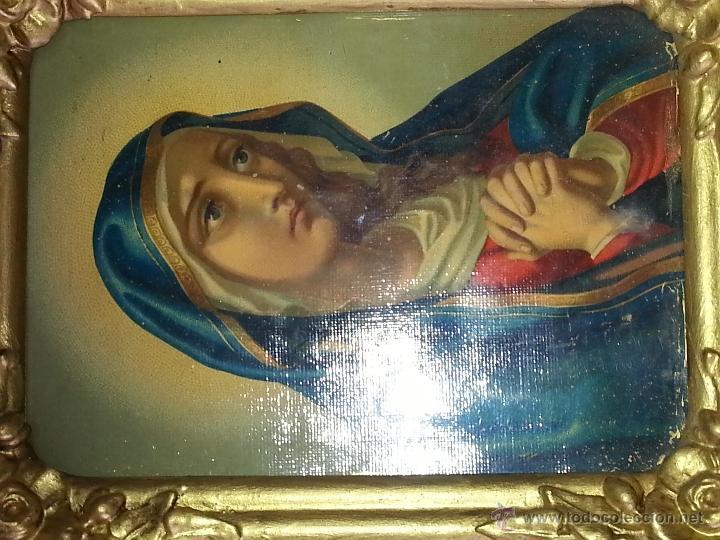 Antigüedades: ANTIGUO RELICARIO DE LA SANTA FAZ Y LA DOLOROSA EN MADERA TALLADA FINALES S. XIX - Foto 13 - 54925814