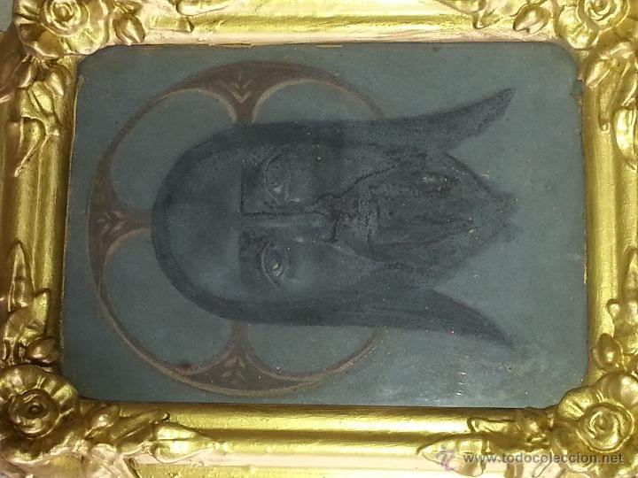 Antigüedades: ANTIGUO RELICARIO DE LA SANTA FAZ Y LA DOLOROSA EN MADERA TALLADA FINALES S. XIX - Foto 14 - 54925814