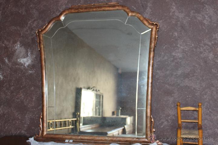 PRECIOSO ESPEJO, RESTAURADO (Antigüedades - Muebles Antiguos - Espejos Antiguos)