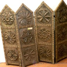 Antigüedades: BIOMBO DE ESTAÑO 4 HOJAS. Lote 54938206