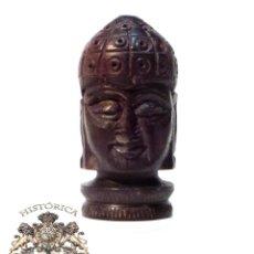 Antigüedades: CAJA ESTILO BUDISTA EN MADERA NOBLE DE MUY BUENA CALIDAD , 5,3 CM DE ALTO. Lote 54952441