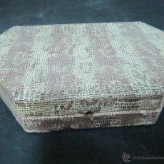 Antigüedades: ESTUCHE JOYERO CON ESPEJO. Lote 54955959