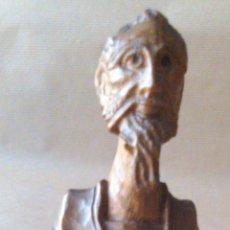 Antigüedades: FIGURA DEL QUIJOTE EN MADERA TALLADA. Lote 54961703