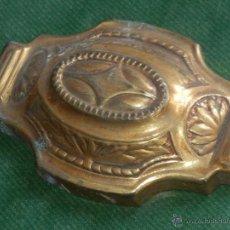 Antigüedades: ANTIGUO APLIQUE DECORATIVO LATON - AÑOS 20-30. Lote 54975373