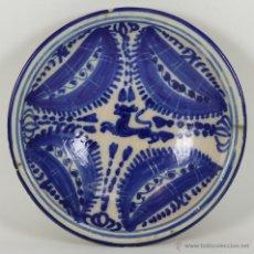 Antigüedades: PLATO EN CERAMICA POLICROMADA. MANISES. VALENCIA. SIGLO XIX. . Lote 54977112
