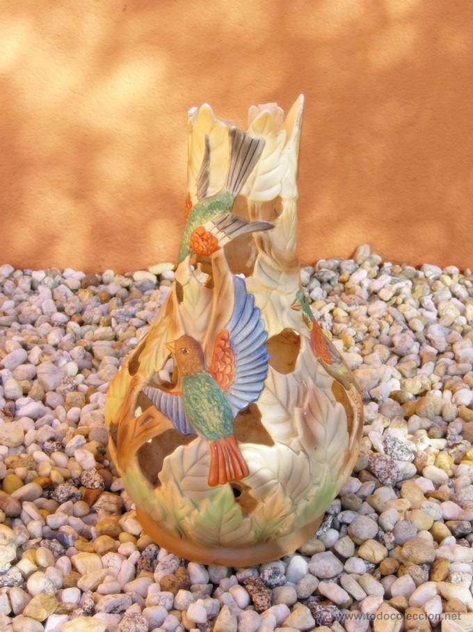 JARRÓN CERÁMICA COLADA........MUY DECORATIVA (Antigüedades - Porcelanas y Cerámicas - Otras)