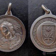 Antigüedades: MEDALLA ANTIGUA SANTA MARIA DEL MIRACLE SONSONA LLEIDA 1958. Lote 54984999
